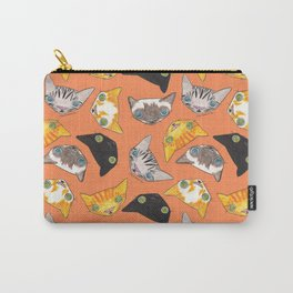 """""""Oro?"""" Cats-Salmon Color Carry-All Pouch"""