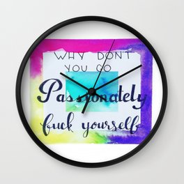All About Passion Wall Clock