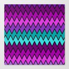 Zig Zag with Texture Canvas Print
