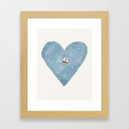 My Heart is an Ocean Framed Art Print