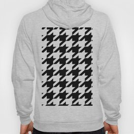 retro fashion classic modern pattern black and white houndstooth Hoody
