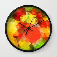 fruits Wall Clocks featuring Fruits by Veronika