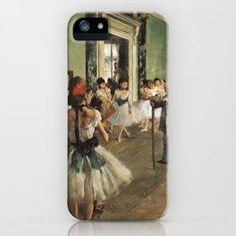 The Dance Class, Edgar Degas, 1874 iPhone Case