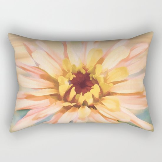Sunset Zinnia Rectangular Pillow