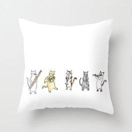 Meowtet Throw Pillow