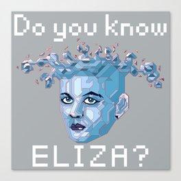 A.I. ELIZA Canvas Print