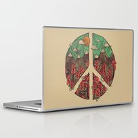 landscape Laptop & iPad Skins featuring Peaceful Landscape by Hector Mansilla