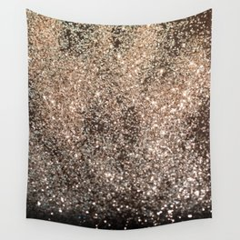 Sparkling GOLD BLACK Lady Glitter #1 #decor #art #society6 Wall Tapestry