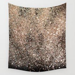 Sparkling GOLD BLACK Lady Glitter #1 #decor #art #society6 Wall Tapestry