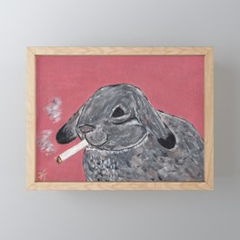 Rabbit (Light Up) Framed Mini Art Print