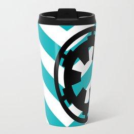 Imperial Cog on Blue Chevrons Travel Mug