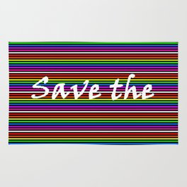 Save the day | Colorful Lines Rug