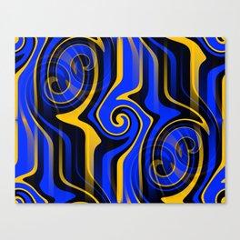 Regal Blues Abstract Canvas Print