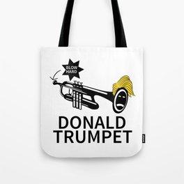 Donald Trump Trumpet Tote Bag