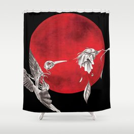 Revived Hummingbird Shower Curtain