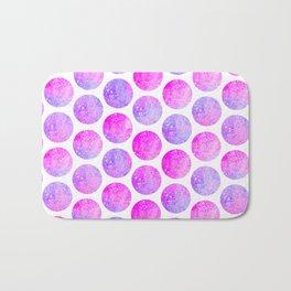 Modern hot pink lavender faux glitter polka dots pattern Bath Mat