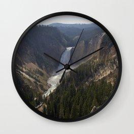 lower falls, grand canyon of yellowstone Wall Clock