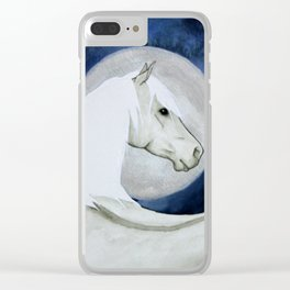 Silver Horse Clear iPhone Case
