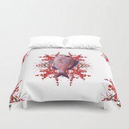 Red Berries Fish Duvet Cover