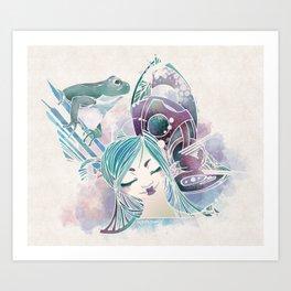 leaping mind Art Print