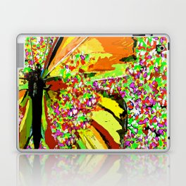 Butterfly Autumn So Pretty ORANGE AND GOLD Laptop & iPad Skin