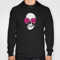 Skull and Roses | Grey and Pink Hoody