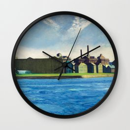 Roosevelt Island, New York City by Edward Hopper Wall Clock