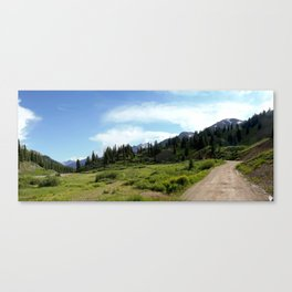 Turnoff to 12,840-foot Black Bear Pass - A Frightening and Dangerous Road Canvas Print