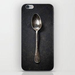 Vintage metal spoon iPhone Skin