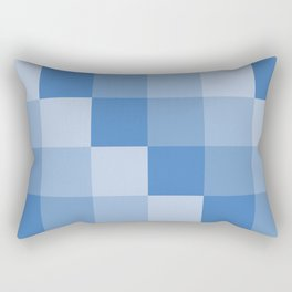 Four Shades of Blue Square Rectangular Pillow