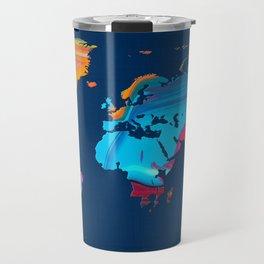 World Map 14 Travel Mug