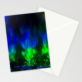 Green Blue Flame Stationery Cards