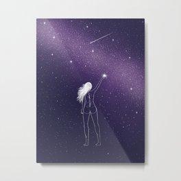 Star Girl Metal Print