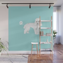 toy poodle funny farting dog breed pure breed pet gifts Wall Mural