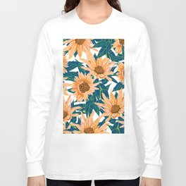 Blush Sunflowers Long Sleeve T-shirt