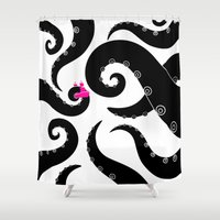 octopus Shower Curtains featuring Octopus by S.Y.Hong