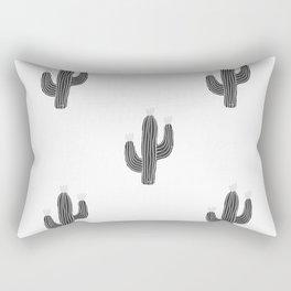 Cactus bloom - bw Rectangular Pillow