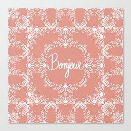 Bonjour - Autumn Peach Canvas Print