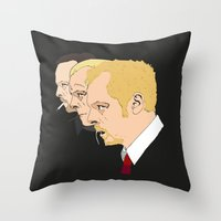 shaun of the dead Throw Pillows featuring Simon Pegg - Shaun Of The Dead, Hot Fuzz and The World's End by Tomcert
