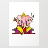 hindu Art Prints featuring Hindu god by American Artist
