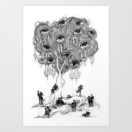 EscapeEyes Art Print