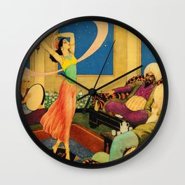 Dance of Morgiana By Rudolf Koivu Wall Clock