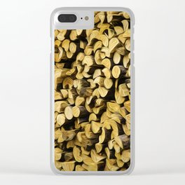 Wood Pile Painterly Clear iPhone Case
