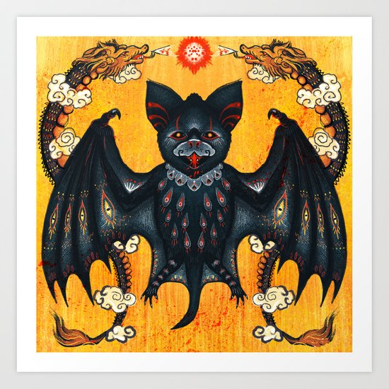 Black Bat Art Print