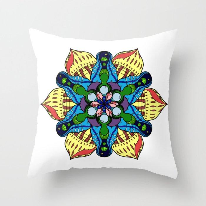 Symmetrical Sea Throw Pillow