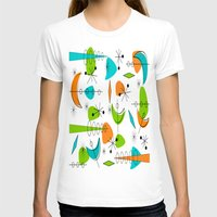 mid century modern T-shirts featuring Mid-Century Modern Space Age by Kippygirl