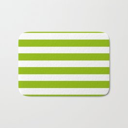 Spring Fresh Apple Green & White Stripes- Mix & Match with Simplicity of Life Bath Mat