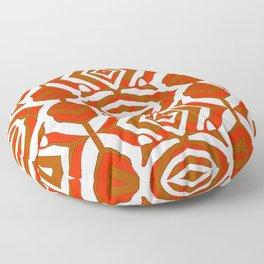 Zebra - Abstract Red Floor Pillow