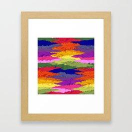 Rainbow Ripples Framed Art Print