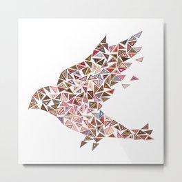 Mosaic bird Metal Print